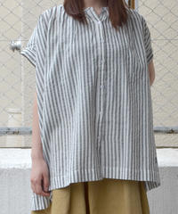 ギャザーフレンチスリーブシャツ(RE020001-01)