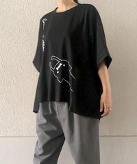異素材ワイドTシャツ(RF254006-09)