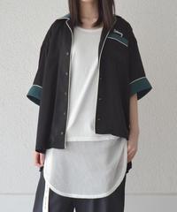 バイカラーパイピングシャツ(AE046003-09)