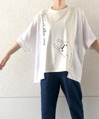 異素材ワイドTシャツ(RF254006-01)