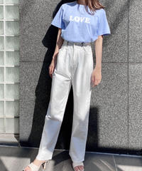 WHITE buckle pants