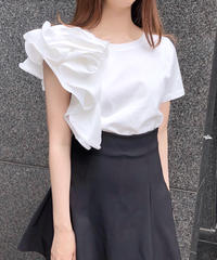 ruffle tee / 2color