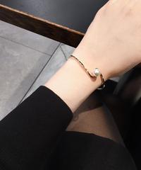 【即納】simple pearl bangle(gold/silver)