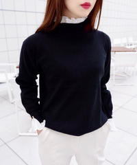 pearl frill knit / 4color