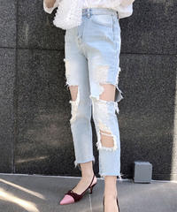 chic damage jeans