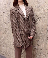 wool mix check jacket