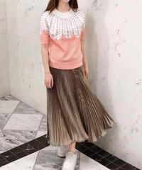 glossy pleats SK / gold