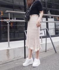 【予約】mermaid knit SK / beige