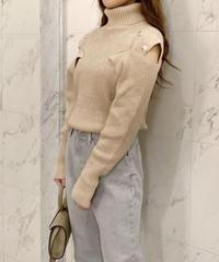 shoulder button knit