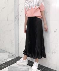glossy pleats SK / black