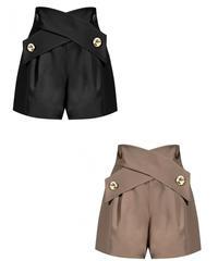 cross belt short pants / 2color