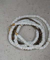 seeds double necklace MONO -ecru-