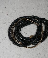 seeds double necklace MONO -black-