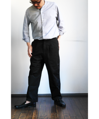 RICCARDO METHA Twill 1Tuck Wide Trousers
