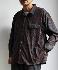 SLOW HANDS Geometric Print Maribu Shirts Jacket