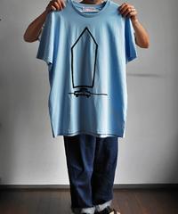 "SARAH CORYNEN ""ACCIDENTAL HOME"" T-Shirt Sky Blue"