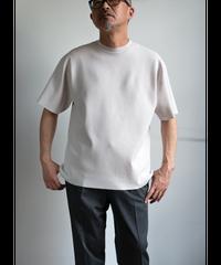 AURALEE Wool Recycle Polyester Hige Gauge Rib Knit Tee