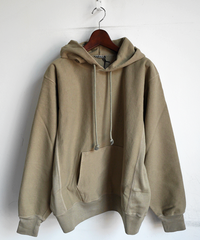 AURALEE SUPER MILLED SWEAT P/O PARKA