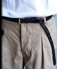 JABEZ CLIFF Long Saddle Leather Belt 20holes