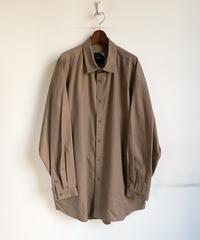 ATON Cotton Cashmere Oxford Oversized Long Shirt