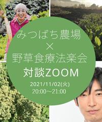11/2@ZOOM「みつばち農場×野草食療法楽会」YASOUEN楽校