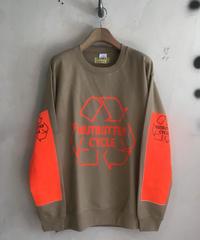 A-009 サイズM〜L ライト ウエイト クールネックスエット  シャツ