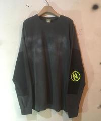 エルボーパッドプリントロングスリーブシャツ004