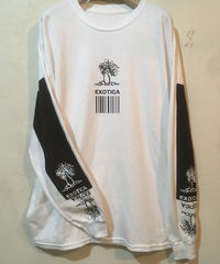 exoticaロングスリープシャツ 002 ブラックプリント