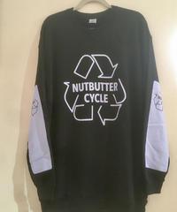 B002 XL〜XXL Recycl logo ライトウエイト スエットシャツ