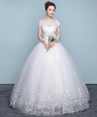 ウェディングドレス ブライダルドレス 格安 ホワイト 新婦 ドレス