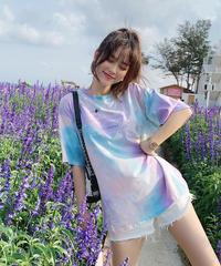 ビッグシルエット レディース ボリューム袖 Tシャツ 体型カバー カジュアル 夏
