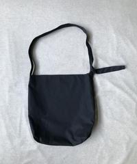 Cotton Gabardine - Black |Big Shoulder Bag
