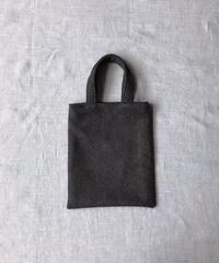 【ご贔屓さま限定】FOX BROTHERS Tweed - Khaki Brown |Slim Tote Bag (Mini・Short Handle)