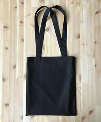 HOLLAND & SHERRY Wool Serge - Charcoal Stripe|Slim Tote Bag