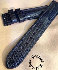 リザード レザー 腕時計ベルト ネイビー  20mm-18mm  LIZ-55