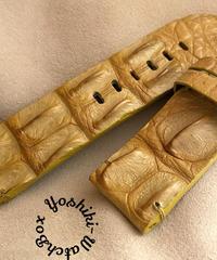 クロコダイル レザー 腕時計ベルト タンブラウン (ラグ幅26mm - バックル幅26mm) cro-457