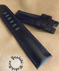 コードバン レザー 腕時計ベルト ネイビー (ラグ幅22mm - バックル幅20mm) cod-27