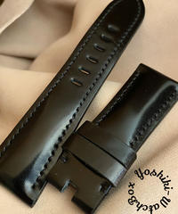 コードバン レザー 腕時計ベルト ブラック (ラグ幅26mm - バックル幅22mm) cod-16
