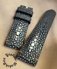 スティングレイ  腕時計ベルト ブラック (ラグ幅24mm - バックル幅22mm)  sti-56