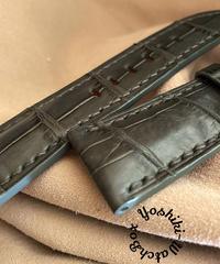クロコダイル レザー 腕時計ベルト グレー (ラグ幅26mm - バックル幅22mm) cro-464