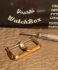 ブラス製 腕時計ベルト用 バックル 20mm アンティークレプリカ arb-20