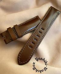 コードバン レザー 腕時計ベルト チョコブラウン (ラグ幅22mm - バックル幅20mm) cod-14