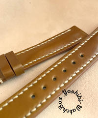 cod-45 コードバン レザー 腕時計ベルト イエローブラウン (ラグ幅18mm - バックル幅16mm)
