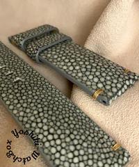 スティングレイ  腕時計ベルト グレー (ラグ幅24mm - バックル幅22mm)  sti-47