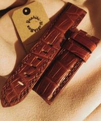 クロコダイル ブラウン 24mm-22mm CRO-86