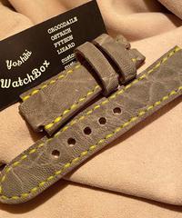 エレファント レザー 腕時計ベルト グレー CUST-16 オーダー品