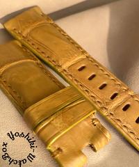 クロコダイル 腕時計ベルト タンブラウン 26mm-22mm CRO-324