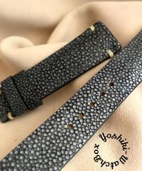 スティングレイ  腕時計ベルト ブラック (ラグ幅20mm - バックル幅18mm)  sti-60