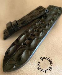 クロコダイル レザー 腕時計ベルト ブラック (ラグ幅26mm - バックル幅26mm) cro-458