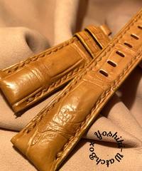 クロコダイル 腕時計ベルト タンブラウン 22mm-20mm CRO-290